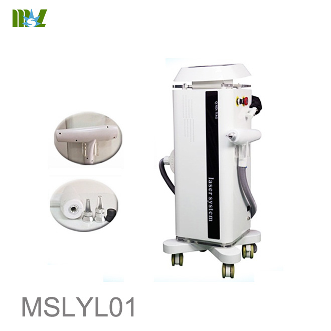 Unique outshape Q switch yag laser tattoo removal machine MSLYL01 price