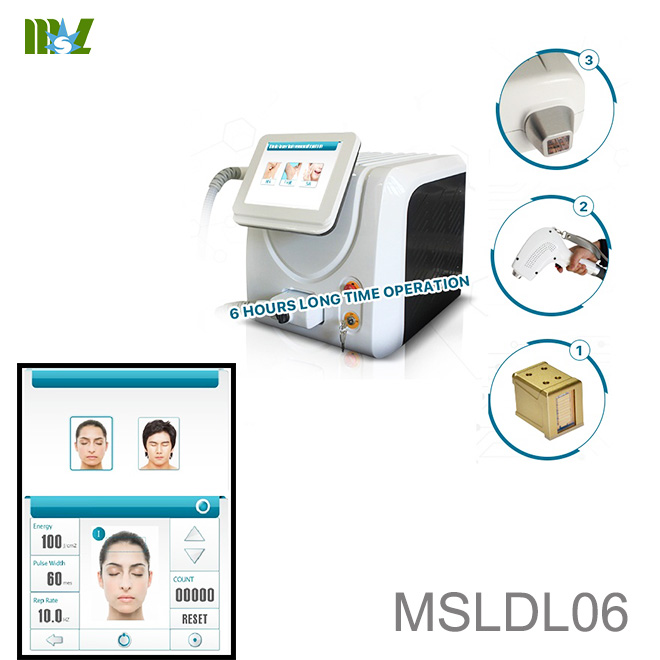 Laser pubic hair removal machine MSLDL06